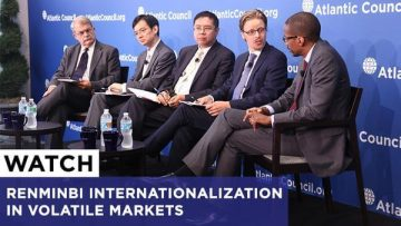 Chris Brummer Atlantic Council panel on the renminbi